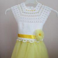 Нарядное платье для девочки крючком. Работа Мухиной Ольги