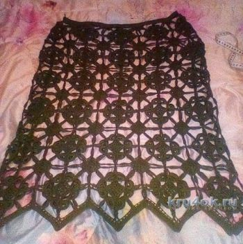 Женская юбка крючком. Работа Виктории