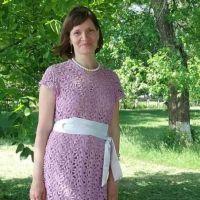 Вязаное платье в технике ленточного кружева. Работа Татьяны Колесник