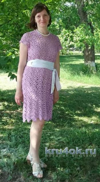Платье в технике ленточного кружева