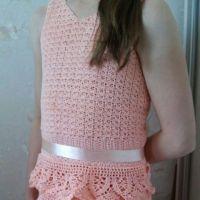 Платье для девочки крючком. Работа Иришкас7