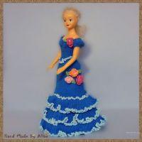 Платье для Барби. Работа Alise Crochet