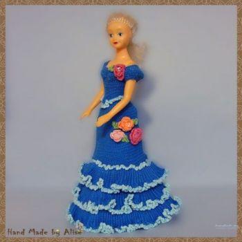 Платье для куклы для Барби от Alise Crochet