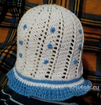 Летняя шляпка крючком для девочки. Работа Светланы Норман