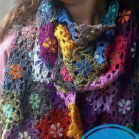 Вяжем крючком красивые шарфы со схемами и описанием