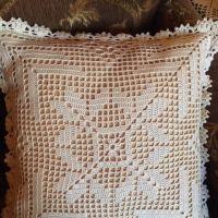 Чехол (наволочка на подушку). Работа Надежды Борисовой