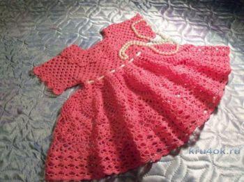 Платье для девочки 1 года. Работа Акамарал
