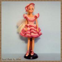 Нарядное платье для куклы Барби. Работа Alise Crochet