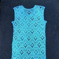 Пляжное платье крючком. Работа Людмилы Ильичевой