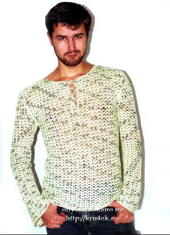 Мужской свитер. Вязание