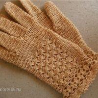 Ажурные перчатки крючком, мастер — класс!