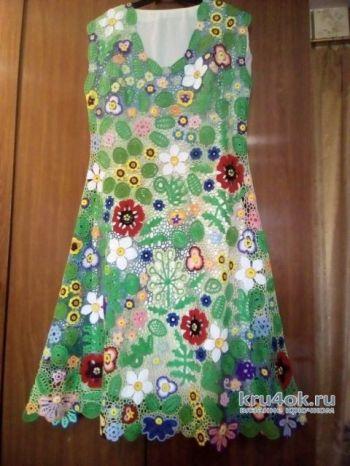 Платье Летний этюдв технике ирландского кружева