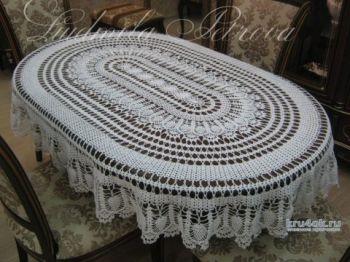 Вязание для дома - скатерть Чарующая