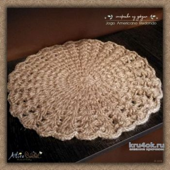 Салфетка из джута крючком. Работа Alise Crochet