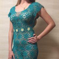 Пляжное платье Изумрудная фея. Работа Натали Крафт
