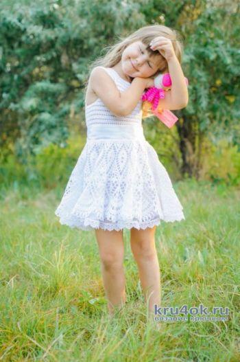 Нарядное платье для девочки летнее