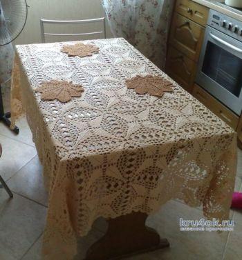 Скатерть из мотивов-вязание для дома