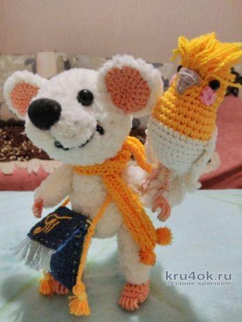 Мышонок Тим и его друг Кеша из плюшевой пряжи