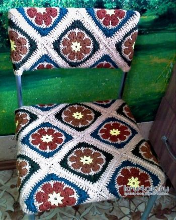 Вязание для дома - чехол для стула