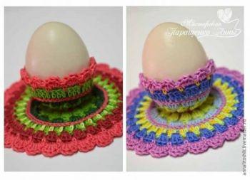 Ажурная подставка для пасхального яйца, мастер - класс