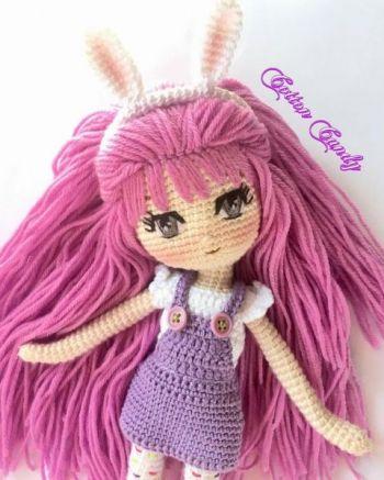 Кукла Сиренька вязанная крючком