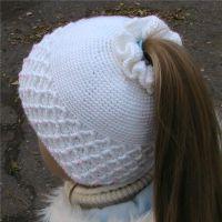 Вязание крючком шапки для девочки