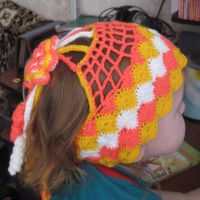 Шапочка-повязка для девочки