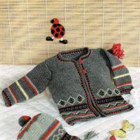 Кофточка и шапочка (вязание для детей)