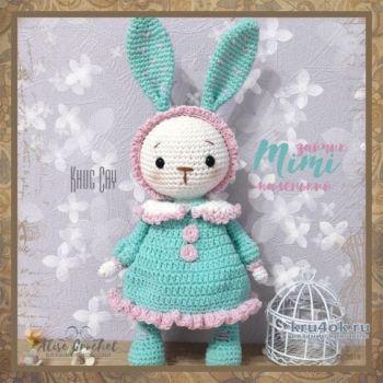 Mimi - маленький зайчик, связанный крючком. Работа Alise Crochet