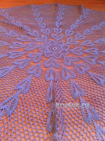 Схема вязания ажурной скатерти крючком