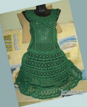 Летнее женское платье, вязание крючком