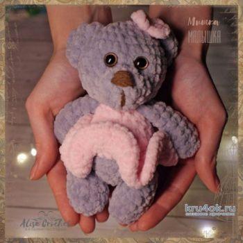 Мишка - малышка, вязанная крючком игрушка. Работа Alise Crochet