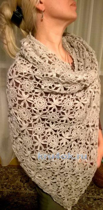 Шаль крючком, вязание для женщин