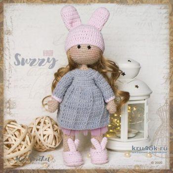 Кукла Suzzy связанная крючком. Работа Alise Crochet