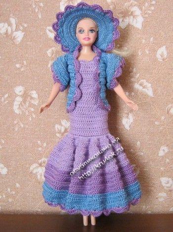 Одежда для Барби крючком