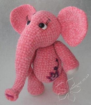 Розовая слоняша от Янины, схемы вязания