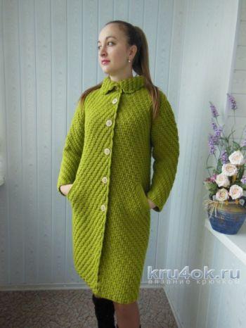 Вязаное крючком пальто от Ксюши Тихоненко
