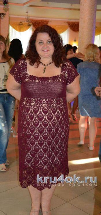 Вязание красивого женского платья