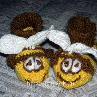 Детские пинетки пчёлки