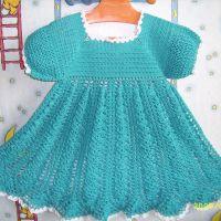 Голубое платье с колосками