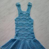 Голубой сарафан для дочки