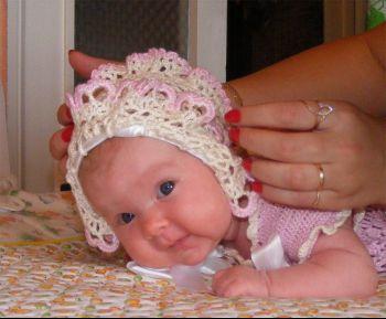 чепчики крючком для новорожденных