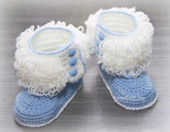 Пинетки - ботиночки для новорожденного крючком