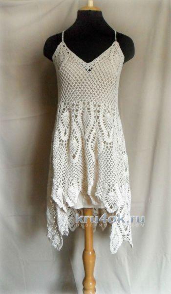 Сарафан крючком для женщин по мотивам платья от Free People