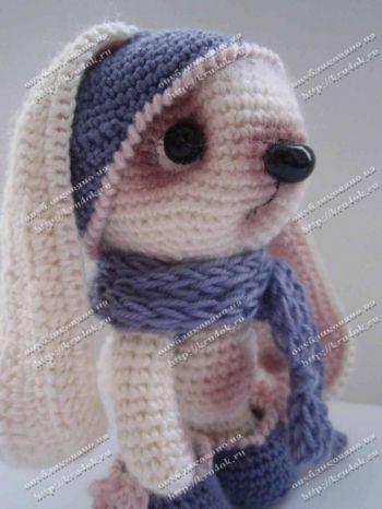 Зайка Джулия, схемы вязания игрушки и описание