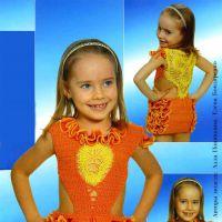 Апельсиновый сарафан для девочки
