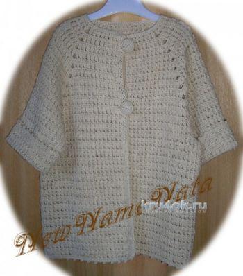 Жакетик для девочки Карамелька, схема вязания