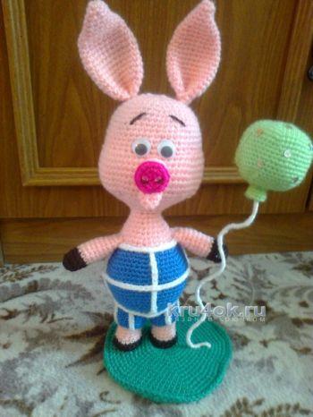 Вязаная игрушка Пятачок, схемы и описание работы