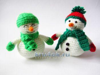 Вязаные крючком снеговики амигуруми от Екатерины Алешиной