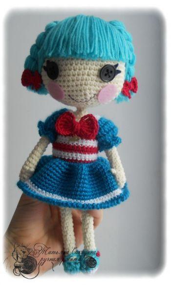 Схема вязаной игрушки кукла Лалалупси